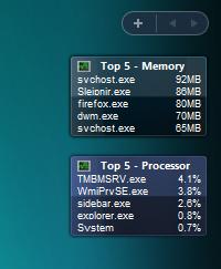 窓の杜 - 【REVIEW】プロセスのCPU使用率・メモリ使用量トップ5を ...