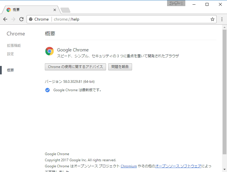 「Google Chrome」v58.0.3029.81