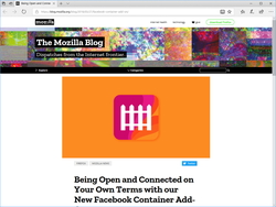 Mozilla、「Facebook Container」拡張機能を公開 ~Facebookのデータ不正