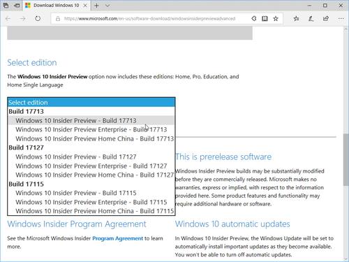 RS5」もダウンロード可能 ~プレビュー版「Windows 10」のISOイメージが