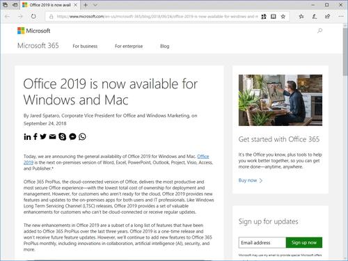 microsoft office 2019 をwindows mac向けに正式リリース 窓の杜