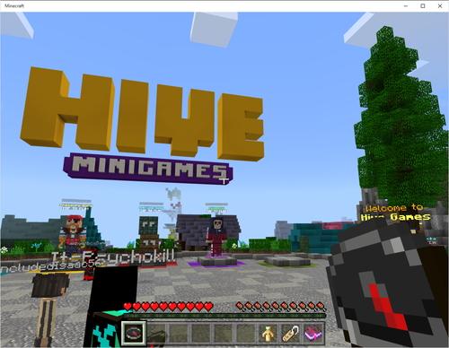 ミニゲームサーバー the hive へ接続できる minecraft v1 7が正式