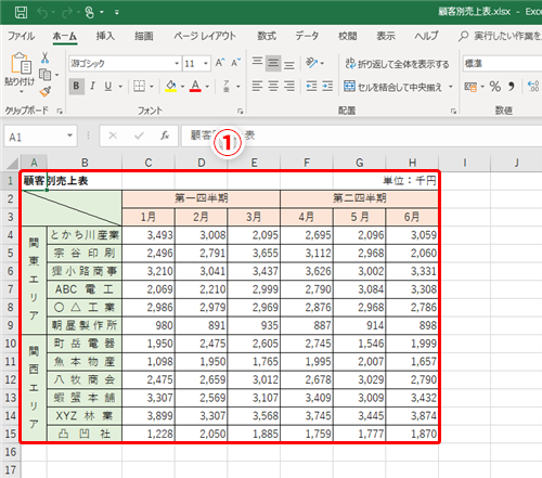 表示 エクセル 列 番号 Excelの行番号、列番号の表示について