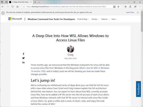WSL 2」でもWindowsからWSL/Linuxのファイルへアクセス可能 ~Microsoft