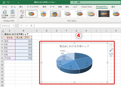 3d グラフ エクセル