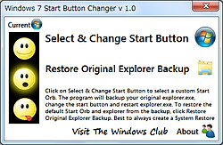 「Windows 7 Start Button Changer」v1.0