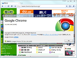 「Google Chrome」v4.1.249.1045