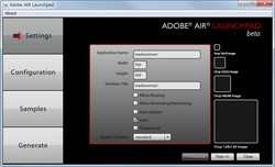 「Adobe AIR Launchpad」Beta 1