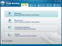 「EASEUS Todo Backup Home」v2.0
