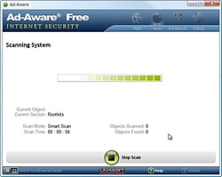 「Ad-Aware Free Internet Security」v9.5.0