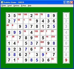 レビュー マウスのみでプレイできる 数独 ことナンバープレースゲーム