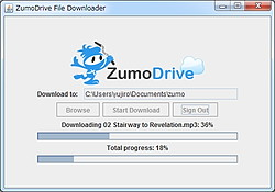 「ZumoDrive Downloader tool」