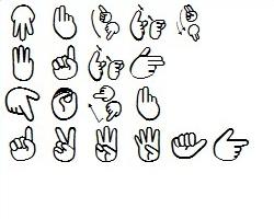 手の形による言語表現をイラスト化したフォント指文字 窓の杜