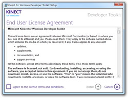 �uKinect for Windows SDK�v�̃C���X�g�[���������ɁA�C���X�g�[���[����uDeveloper Toolkit�v�����ڃ_�E�����[�h�ł���