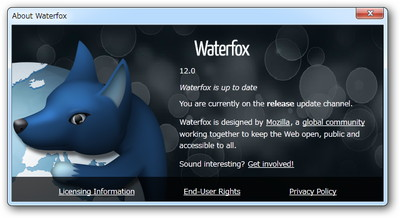 「Waterfox」v12.0