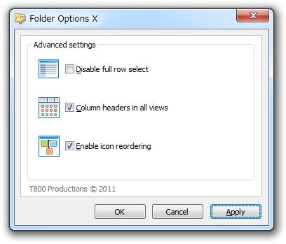 「Folder Options X」