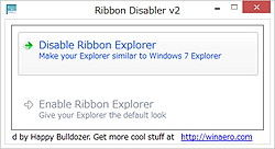 「Ribbon Disabler for Windows 8」v2