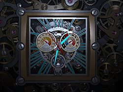 「Skeleton Clock 3D Screensaver」v1.0
