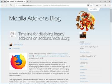 Firefox 52 ESR」から激変! 新しい延長サポートリリース