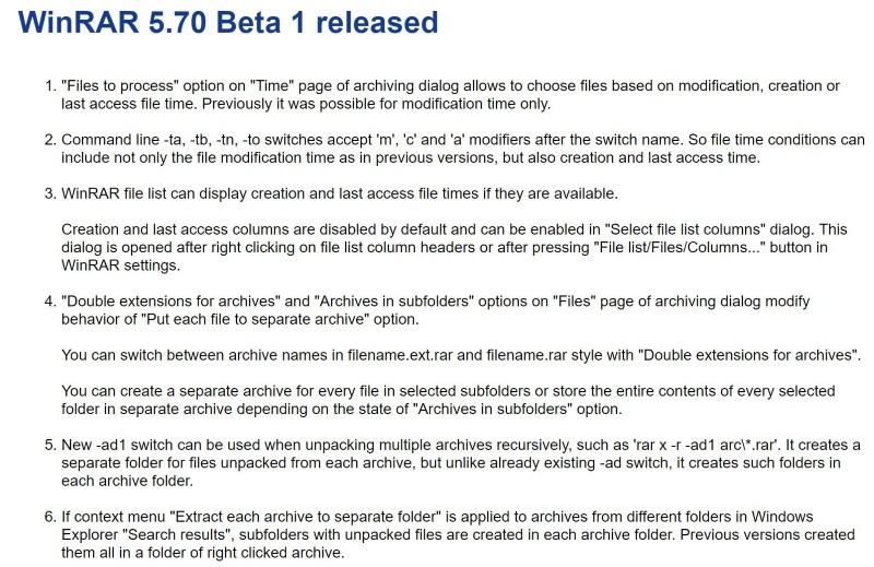 WinRAR」v5 70 Beta 1公開 ほか - ダイジェストニュース - 窓の杜