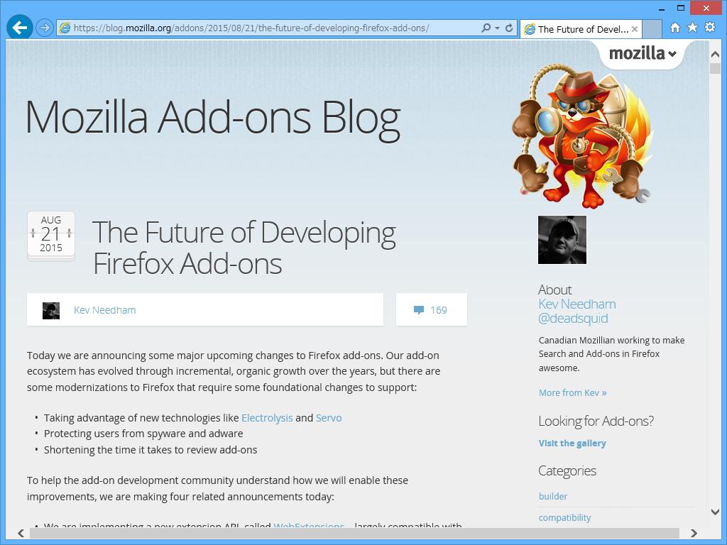 Mozilla、「Firefox」のアドオンを「Google…