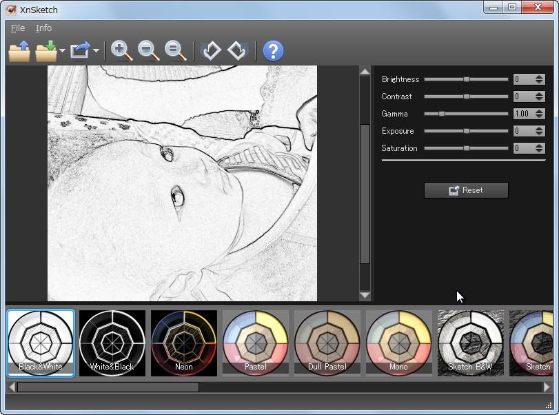 Xnsketch 写真を絵画調に変換することに特化したレタッチソフト 窓の杜